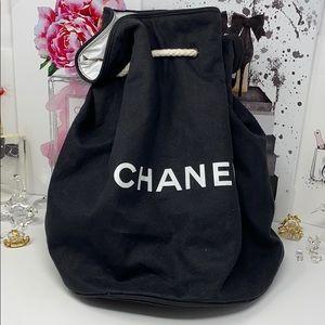 Chanel Canvas Bucket Makeup Travel Gym DuffleBag